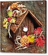 Tweet Little Bird House Acrylic Print by Andee Design