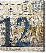 Twelve Left Acrylic Print by Carol Leigh