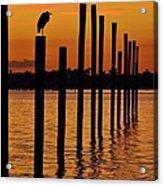 Twelve Poles At Sunset Acrylic Print by Lynda Dawson-Youngclaus