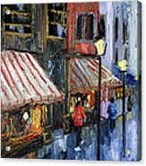 Twelve Street And Rine Acrylic Print by Anthony Falbo