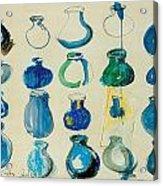 Twenty Blue Pots Acrylic Print