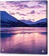Twilight Above A Fjord In Norway With Beautifully Colors Acrylic Print by Ulrich Schade
