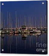 Twilight At The Marina By The Lift Bridge Acrylic Print
