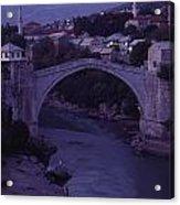 Twilight View Of A 15th-century Bridge Acrylic Print