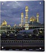 Twilight View Of An Illuminated Mosque Acrylic Print
