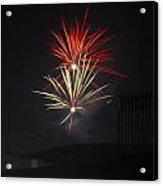 Twin Fireworks Acrylic Print