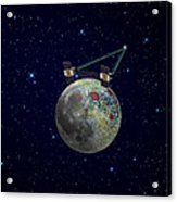 Twin Grail Spacecraft Map The Moons Acrylic Print