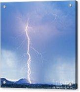Twisted Lightning Strike Colorado Rocky Mountains Acrylic Print