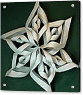 Twisted Paper Christmas Star Acrylic Print