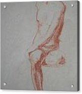 Twisted Sitting Man Acrylic Print