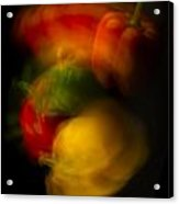 Twisting Peppers Acrylic Print