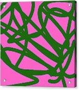 Twisty Green Thing Acrylic Print