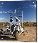 Two Astronauts Take A Ride On Scout Acrylic Print