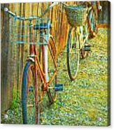 Two Bicyles Acrylic Print
