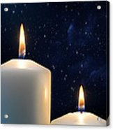 Two Candles With Star Of Bethlehem  Acrylic Print