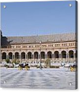 Two Carriages In Front Of The Spanish Square Acrylic Print