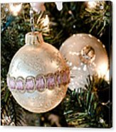 Two Christmas Ornaments Acrylic Print
