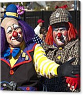 Two Clowns Acrylic Print