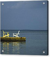 Two Deck Chairs In Conversation Acrylic Print