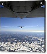 Two Ec-130j Commando Solo Aircraft Fly Acrylic Print