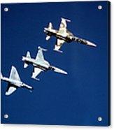 Two F-5 Tiger IIs And An A-4e Skyhawk Acrylic Print