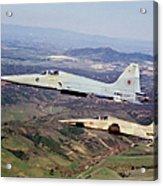 Two F-5e Tiger IIs In Flight Acrylic Print