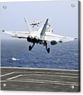 Two Fa-18c Hornet Strike Fighters Acrylic Print