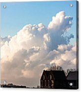 Two Houses One Cloud Acrylic Print by Semmick Photo
