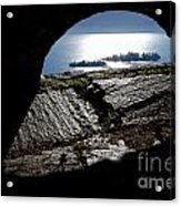 Two Islands On A Lake With A Arch Acrylic Print