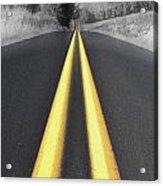 Two-lane Blacktop Acrylic Print by Kevin Felts