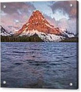 Two Medicine Lake Panorama Acrylic Print