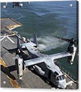 Two Mv-22 Ospreys Land On The Flight Acrylic Print