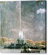 Two People By Buckingham Fountain Acrylic Print
