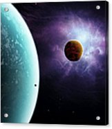 Two Planets Born From The Same Star Acrylic Print