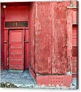 Two Red Doors Acrylic Print by James Steele