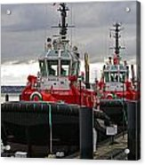 Two Red Tugs Acrylic Print