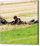 Two Soldiers Of The Belgian Army Acrylic Print by Luc De Jaeger