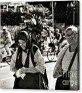 Two Women In Rovinj 2 Acrylic Print