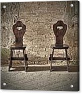 Two Wooden Chairs Acrylic Print
