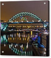 Tyne Bridge At Night Acrylic Print