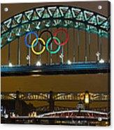 Tyne Bridge At Night II Acrylic Print