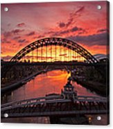 Tyne Bridges At Sunrise IIi Acrylic Print