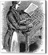 Typesetter, 19th Century Acrylic Print