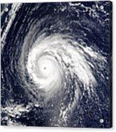 Typhoon Higos Acrylic Print