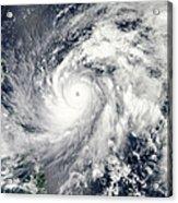 Typhoon Sanba Over The Pacific Ocean Acrylic Print