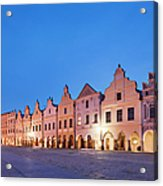 Typical Houses And The Castle Acrylic Print by Maremagnum
