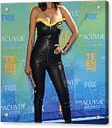 Tyra Banks Wearing A Thierry Mugler Acrylic Print