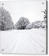Tyre Tracks In The Snow Acrylic Print
