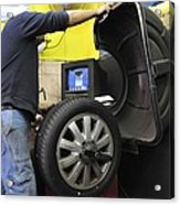 Tyre Workshop And Garage Acrylic Print