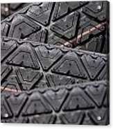 Tyres Stacked With Focus Depth Acrylic Print